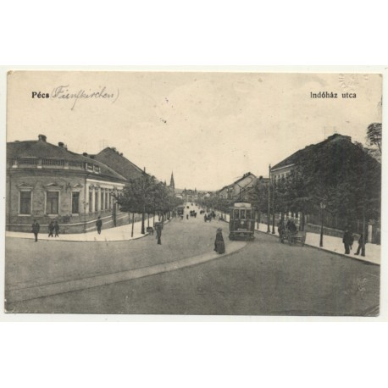 Pécs / Hungary: Indóház utca (Vintage Postcard 1915)