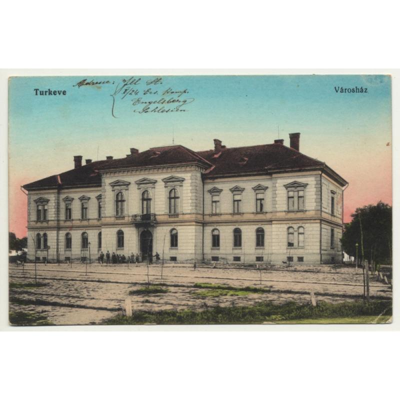 Turkeve / Hungary: Vároház - Town Hall (Vintage Postcard 1915)