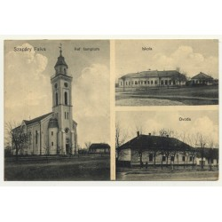 Szapáry Falva - Tipari / Romania: Church - School - Nursery (Vintage Postcard 1915)