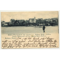 Balatonfüred - Bad Plattensee / Hungary: View Over Village (Vintage Postcard 1901)