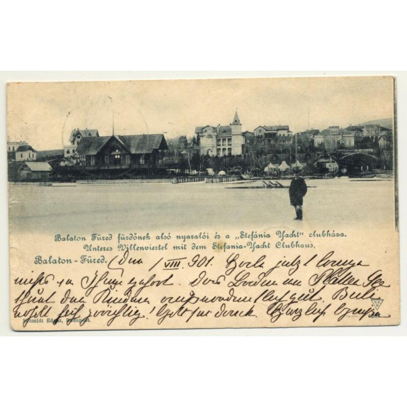 Balatonfüred - Bad Plattensee / Hungary: View Over Village (Vintage Postcard 1901)