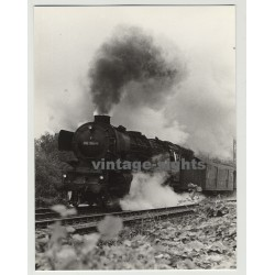 012 100-4 German Steam Train In Motion / Dampflok Star (Vintage Photo 1960s)