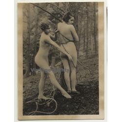 Well Dressed Couple / Spanking - Flat Cap - Interior - BDSM (Vintage Photo ~1930s/1940s)