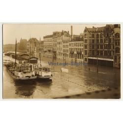 Köln / Rhein: Hochwasser - Flood Cologne (Vintage Sepia RPPC ~1930s/1940s)