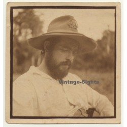 Congo Belge: Portrait Of Belgian Colonial Master / Hat (Vintage Photo 1933)