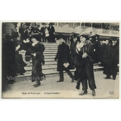 Mode De Paris 1911 - La Jupe Culotte! / Fashion (Vintage Postcard F.F. Paris)