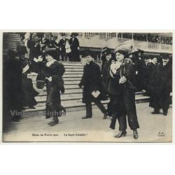 Mode De Paris 1911 - La Jupe Culotte! / Fashion (Vintage Postcard F.F. Paris)