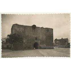 Alcudia / Mallorca: Antigua Puerta De La Ciudad / Old Gate Town (Vintage RPPC ~1950s)