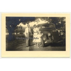 Congo Belge: Family In Front Of Ford 48 Coupe *1 (Vintage RPPC ~1930s)