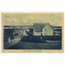 Toftlund / Denmark: Street View - Old Houses - Chimney (Vintage Postcard 1918)