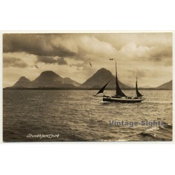 Trondhjemsfjord - Trondheimfjord / Norway: Sailing Boat - Mountains (Vintage RPPC)