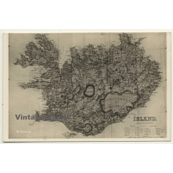 Island / Iceland: Old Map (Vintage RPPC)