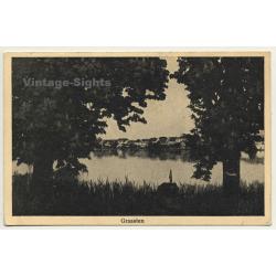 Graasten - Gråsten / Denmark: Town View Over Lake (Vintage Postcard 1939)