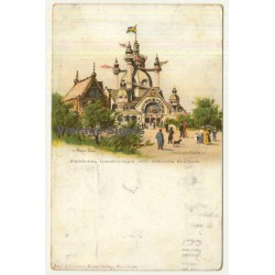 Stockholm / Sweden: Exhibition 1897 - Utställningen (Vintage Artist Postcard Anna Palm)