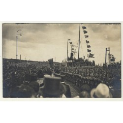 Denmark: Military Parade - Soldiers (Vintage RPPC Gelatin Silver 1929)