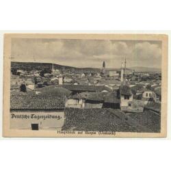Skopje / North Macedonia: Town Veew - Deutsche Tageszeitung (Vintage Postcard 1917)