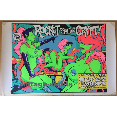 Rocket From The Crypt @ The Whiskey (Vintage Silkscreen Print 1995 - Coop 1.ED)