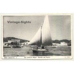 San Antonio Abad - Ibiza: Detalle Del Puerto - Yaut (Vintage...