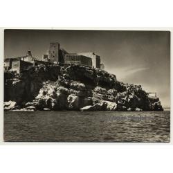 Peñiscola / Castellón: Castillo Desde El Mar (Vintage RPPC)
