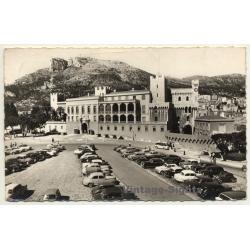 Monaco: Place Du Palais Et Le Palais Princier (Vintage RPPC 1959)