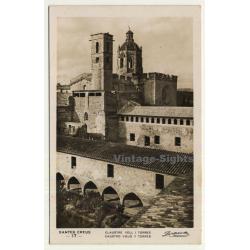 Santes Creus / Tarragona: Caustro Viejo Y Torres (Vintage RPPC)