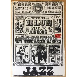 The Blue Note Juneors: Jazz For Dancing 1967 (Vintage Concert Screen Print: Korndörffer)
