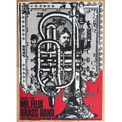 Mr. Felix Brass Band / South Border Jazz Club (Vintage Screen Print: Korndörffer)