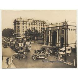 London / UK: Marble Arch & Oxford Street - Oldtimers (Vintage...