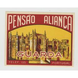 Pensao Alianca - Guarda / Portugal (Vintage Luggage Label)