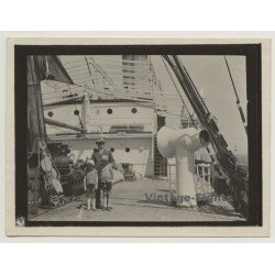 On Deck Of S/S Anversville - Companie Belge Maritime de Congo...