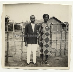 Congo-Belge: Indigenous Couple In Sunday Clothes (Vintage...