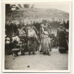 Congo-Belge: 4 Tribal Women In Ceremonial Dress (Vintage Photo...