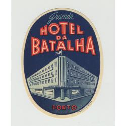 Grande Hotel Da Batalha - Porto / Portugal (Vintage Luggage Label)