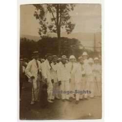 Congo-Belge: Meeting Of Upper Colonial Society *1: The Boys...