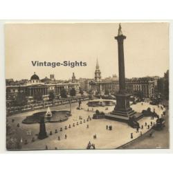 London / UK: National Gallery - Trafalgar Square (Vintage...