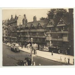 London / UK: Old Staple Inn - Holborn - Double-Decker (Vintage...