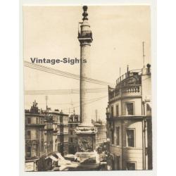London / UK: The Monument - Fish Street Hill (Vintage Photo...
