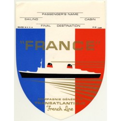 Compagnie Général Transatlantique - French Line 'France'...