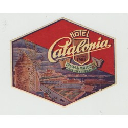 Hotel Catalonia - Palma de Mallorca / Spain (Vintage Luggage Label)