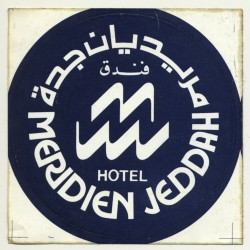 Jeddah / Saudi Arabia: Hotel Meridien (Vintage Self Adhesive...