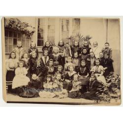 Ixelles / Belgium: Schoolgirls At Institut Des Soeurs De Notre...