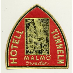 Malmö / Sweden: Hotell Tunneln (Vintage Luggage Label)