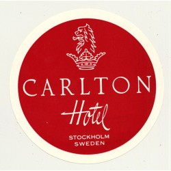 Stockholm / Sweden: Carlton Hotel (Vintage Luggage Label)