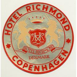 Copenhagen / Denmark: Hotel Richmond (Vintage Luggage Label)