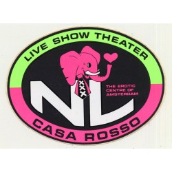 Casa Rosso - Live Show Theater (Vintage Sticker / Amsterdam...