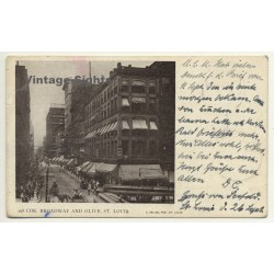 Missouri / USA: Cor, Broadway & Olive, St. Louis (Vintage...