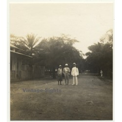 Congo-Belge: Colonial Officer & Couple On Grand Allée (Vintage...