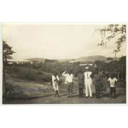 Boma / Congo-Belge: Colonial Officer & Force Publique Soldiers...