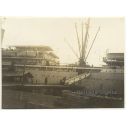 Congo-Belge: Steamship S.S. Anversville At The Pier Of Boma /...