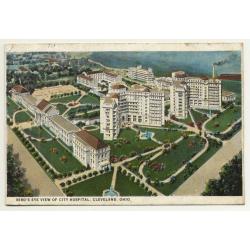 Cleveland - Ohio / USA: Bird's Eye View Of City Hospital...